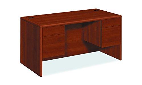 HON 10771CO 10700 Series Desk, 3/4 Height Double Pedestals, 60w x 30d x 29 1/2h, - Pedestal Hon Desk Oak Company