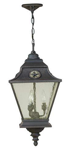 - Outdoor Pendant 3 Light Fixtures with Rust Finish Die Cast Aluminum Material Candelabra 12