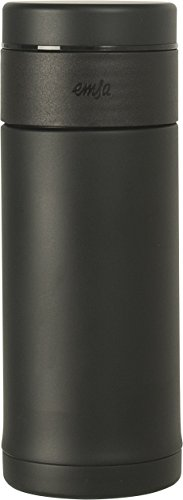 Emsa 515282 Tee Isolierbecher Mobility Slim, 0,42 Liter, 100 % dicht, 12 Stunden heiß und 24 kalt, integrierter Teefilter, schwarz