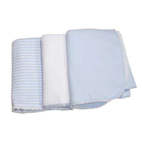 Kissy Kissy - Sets 3 Pack Burp - Blue Stripe-One Size