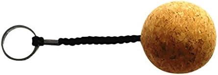 6Pcs Large 5cm Floating Cork Ball Keyring Key Ring Boat Sailing Water Sports