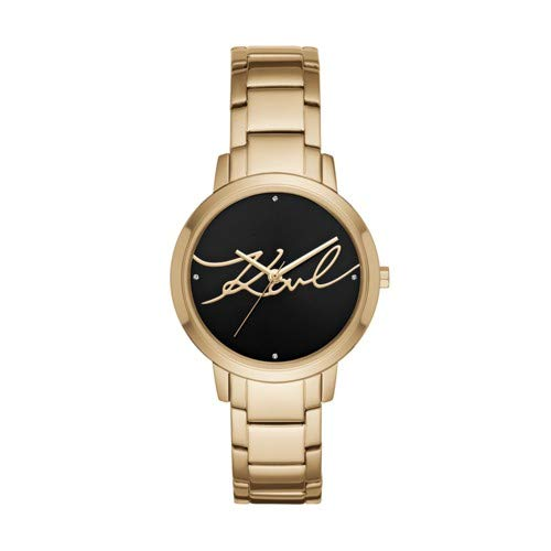 Karl Lagerfeld Women's Camille Quartz Stainless Steel Casual Watch, Color: Gold-Tone (Model: KL2236)