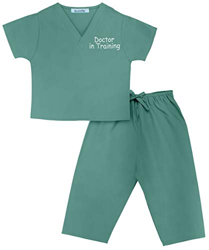 Scoots Kids Scrubs, Doctor in Training Embroidery