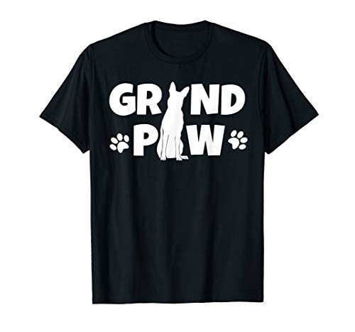 - German Shepherd Grand Paw T Shirt Dog Grandpaw Grandpa Cute