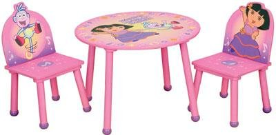 Amazon.com: Dora the Explorer Round Table and Chairs Set by Delta ...