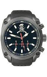 U.S.Agency Military - Black with Silicone Band Men's watch #MILITARYSKULL&B by U.S.Agency