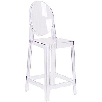 Surprising Flash Furniture Ghost Counter Stool With Oval Back In Transparent Crystal Unemploymentrelief Wooden Chair Designs For Living Room Unemploymentrelieforg