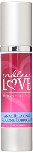 Body Action Endless Love Anal Relaxing Silicone Based Lubricant, 1.7 Ounce