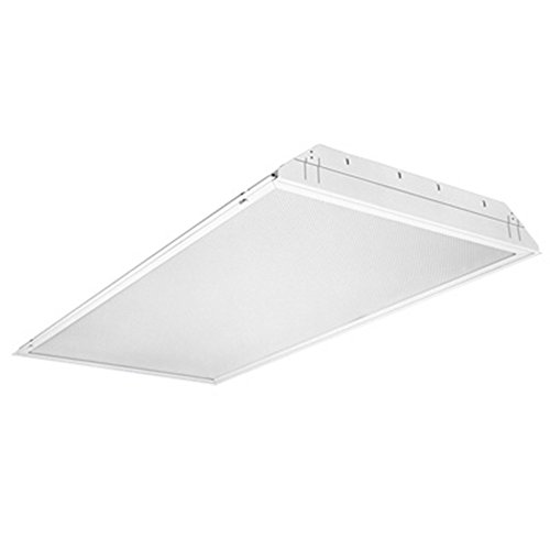 (Lithonia Lighting GT4 4-Light Fluorescent General Purpose Troffer, 4-Feet, White )