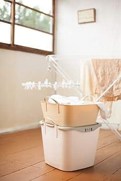 Ba/ño Cesta 41/×35/×34.5 cm Cesta de Lavado Life Story Flexi Tub Cesto de Almacenamiento de Pl/ástico 25L Juguetes para Interiores y Exteriores