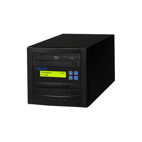 PlexCopier 24X SATA 1 to 1 CD DVD duplicator Writer Copier Tower (1 Target) by PlexCopier