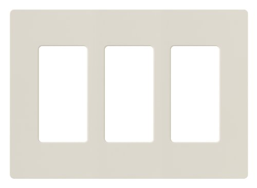 Lutron CW-3-LA Claro 3-Gang Wallplate, Light Almond (Almond Gang Light)