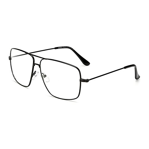 Dollger Classic Glasses Clear Lens Non Prescription Metal Frame Eyewear Men Women ()