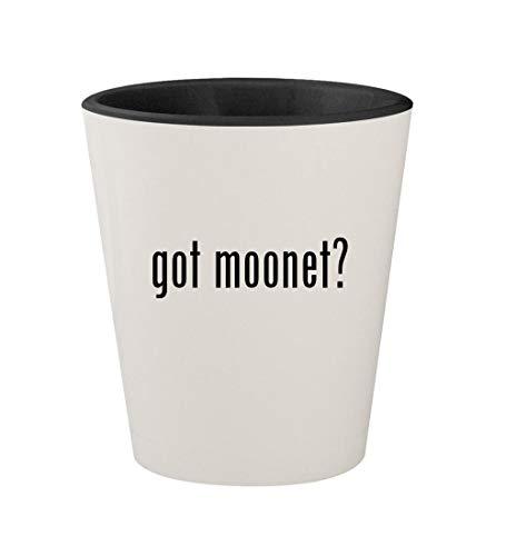 got moonet? - Ceramic White Outer & Black Inner 1.5oz Shot Glass