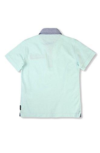 Armani Junior Boy's Short Sleeve Mint Polo w/ Collar Pattern (Big Kids) Light Green 14 Big Kids by Armani Junior (Image #1)