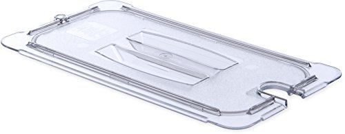 Carlisle 10271U07 StorPlus Third Size Polycarbonate Universal Handled Notched Food Pan Lid, Clear Carlisle Lid