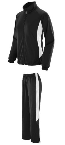 - Ladies Adult Black/White 2XL Full 2-Color Sweat Suit with Sweat Pants & Matching Jacket