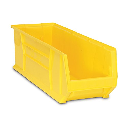 (Quantum QUS974 Plastic Storage Stacking Hulk Container, 30-Inch by 16-Inch by 11-Inch, Yellow, Case of 1)