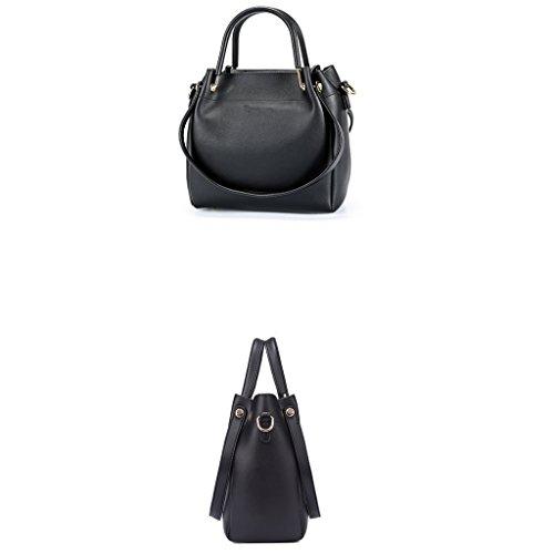 Black Atmosphere Korean Messenger Bag Messenger Gray Fashion Female Shoulder Color JIUTE Shoulder Ms Bag qF6qO1