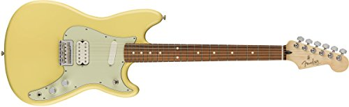 Fender Duo Sonic HS Electric Guitar - Pau Ferro Fingerboard - Canary Diamond