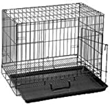 Dogit Animal Dog Cage, Large, Black