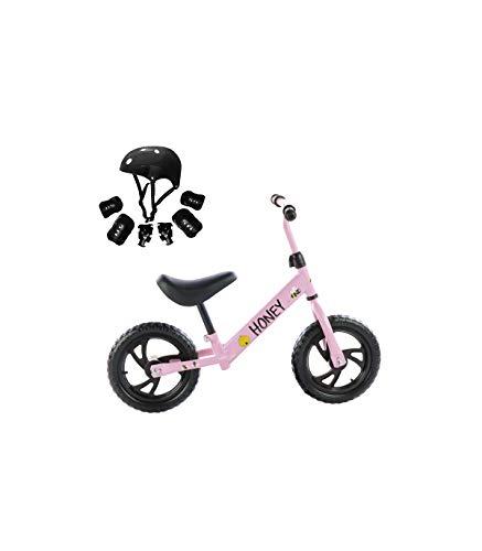 🥇 Grupo K-2 Riscko – Bicicleta sin Pedales con sillín Y Manillar Regulables   Ultraligera   Correpasillos Minibike   Bicicleta para Niños de 2 a 5 años Honey