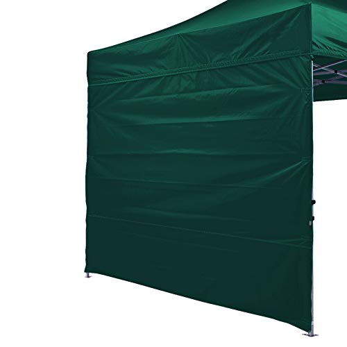 Eurmax Instant SunWall for 10x10 Pop up Canopy, Outdoor Instant Canopies, Removable Zipper End, 1 Pack Sidewall Only (Forest Green) ()
