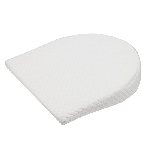 Big-time Bassinet Wedge Pillow, Baby Crib Wedge for Reflux Universal Memory Resilience Cotton & Waterproof Layer Removable Cover Anti-Reflux Pillow for Baby Mattress and Sleep by big-time