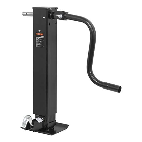 CURT 28512 Direct-Weld Heavy-Duty Trailer Jack Black 12,000 lbs, 12-3/8 Inches Vertical Travel