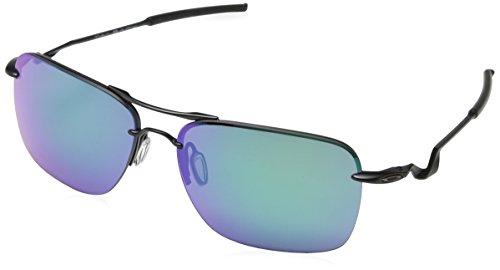 Oakley Mens Tailback Sunglasses, Satin Black/Jade Iridium, One - Tailpin Oakley