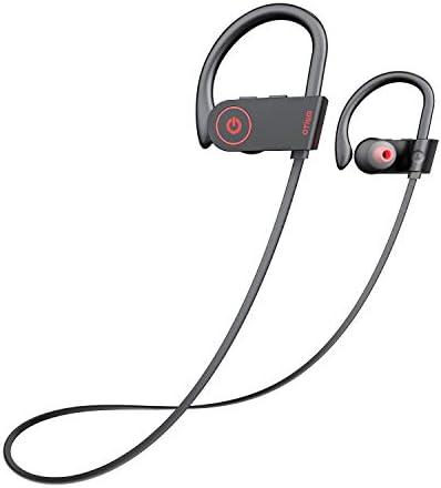 Otium Bluetooth Headphones, Best Wireless Sports Earphones w/Mic IPX7 Waterproof HD Stereo Sweatproof in-Ear Earbuds, Gym Running Workout 8 Hour Battery Noise Cancelling Headsets