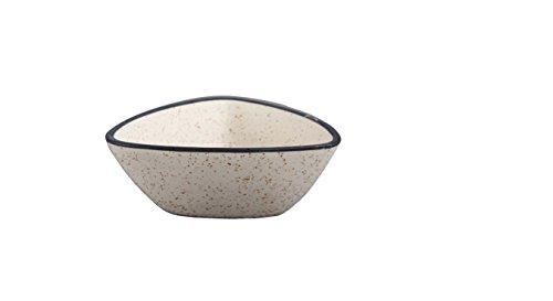 Caffeine Ceramic Handmade Glossy White Matte Katori Bowl – Set of 1