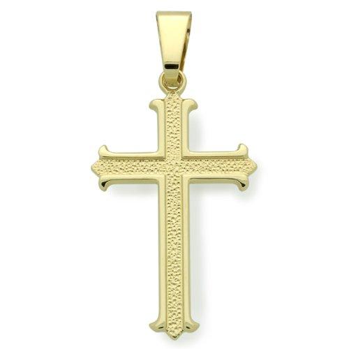 """Petits Mrveilles D'amour - pendentif Religieux - Or Jaune 585/1000 (14ct) """"Croix"""""""