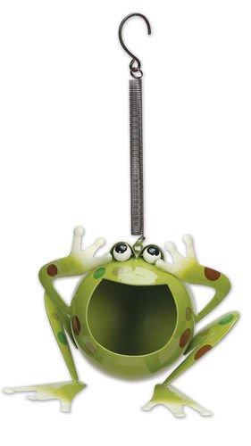 Sunset Vista Designs Medium Froggy Solar Bouncy Hanging ()