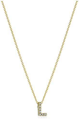 Roberto Coin Tiny Treasures Pave Diamond Initial L Pendant Necklace (Roberto / Coin Diamond 18k Necklace)