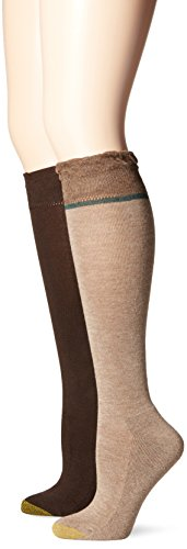 Gold Toe Womens Skinny Boot Knee High Sock (Pack of 2) Camel Heather/Brown lvJ3GTw0x