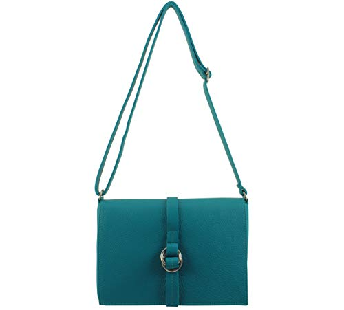 Italie Bandouliere Sac Chloly Cuir Foncé Turquoise Femme Tina RO7xX6gqw