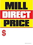 G60MDP Mill Direct Price - Grommet Reinforced (Brass Ring) Sale Tags - 5'' x 7'' (100 Pack) Carpet and Flooring Store Price Cards 10pt Card Stock for Easy Writing