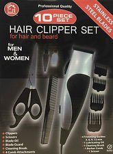 10pc hair clipper set for hair and beard men and women HQ