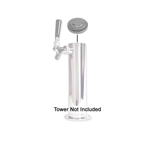 Chrome Plated Brass Replacement Beer Tower Cap for 3'' Diameter Tower