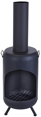 Outdoor Garden Chimney Fireplace Fire Pit Chiminea Heater - Two sizes available (Height: 124cm)
