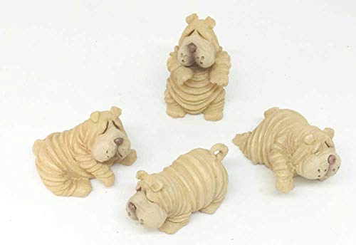 Home For ALL The Holidays Shar-Pei Pups Set of 4 Figurines