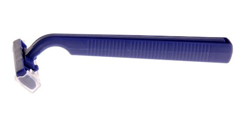 Medline BRN1312 Latex Free Disposable Twin Blade Facial Razor, Blue (Pack of 500)