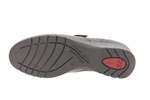 i Mujer 16 Ancho Zapato Piesanto Calzado Confort Piel Bec Velcro 9956 De Cómodo Casual Caoba RdxwCZ7q