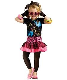 Little Girls' 80s Pop Party Costume 3T-4T (The 80s Outfits)
