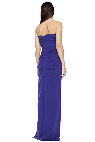 Nicole Miller Ruched Fitted Strapless Evening Gown Dress