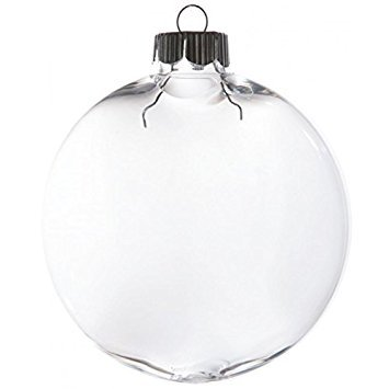 Darice 2610-63 Bulk Case of 80 mm Plastic Disk Shaped Ornaments, Case of 72, 80 mm, Clear (Pack of 72)