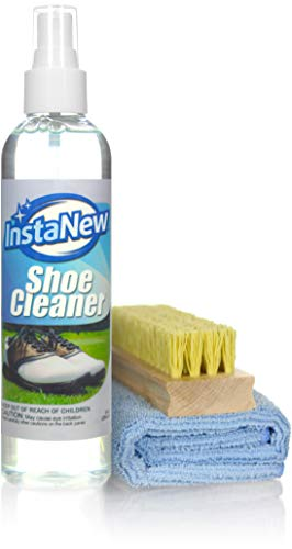 InstaNew Shoe Cleaner Kit by Includes Premium Brush and Microfiber Cloth for All Shoe Types by InstaNew