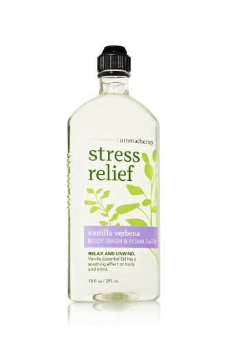 (Aromatherapy Body Wash & Foam Bath Stress Relief - Vanilla Verbena)