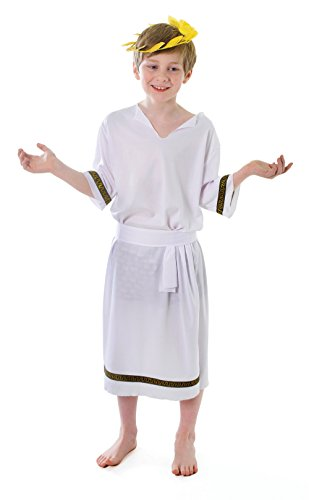 Bristol Novelty Greek Boy Costume (L) Age 7 - 9 Years -